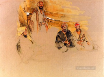John Frederick Lewis Painting - A Bedouin Encampment Mount Sinai Oriental John Frederick Lewis