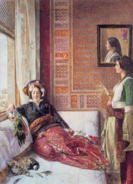 John Frederick Lewis Painting - Harem Life in Constantinople Oriental John Frederick Lewis