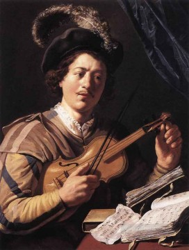 Jan Canvas - The Violin Player Jan Lievens