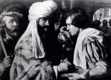 Jan Canvas - Pilate Washing His Hands Jan Lievens