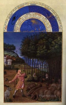 Les Tres Riches Heures Du Duc De Berry Novembre Limbourg Jean Oil Paintings