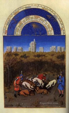 Les Tres Riches Heures Du Duc De Berry Decembre Limbourg Jean Oil Paintings