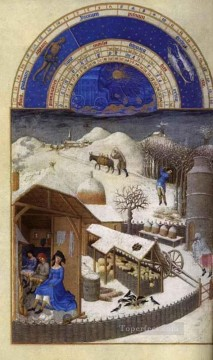 Les Tres Riches Heures Du Duc De Berry Fevrier Limbourg Jean Oil Paintings