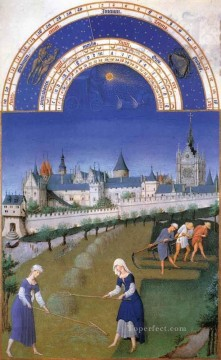 Les Tres Riches Heures Du Duc De Berry Juin Limbourg Jean Oil Paintings