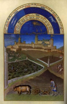 Les Tres Riches Heures Du Duc De Berry Mars Limbourg Jean Oil Paintings
