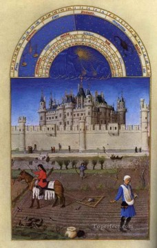 Les Tres Riches Heures Du Duc De Berry Octobre Limbourg Jean Oil Paintings