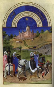 Les Tres Riches Heures Du Duc De Berry Aout Limbourg Jean Oil Paintings