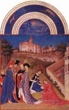 Les Tres Riches Heures Du Duc De Berry Avril Limbourg Jean Oil Paintings