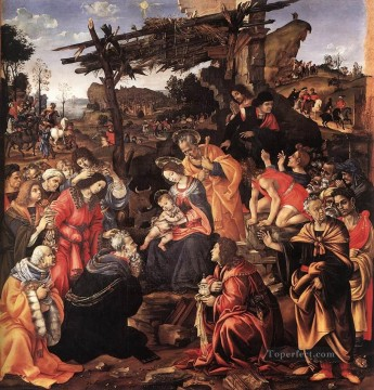 Adoration of the Magi 1496 Christian Filippino Lippi Oil Paintings