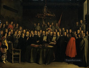 Borch II Gerard ter The Ratification of the Treaty of Munster 15 May 1648 Christian Filippino Lippi Oil Paintings