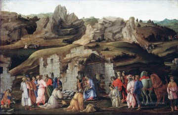 Filippino Lippi Painting - Lippi Filippino The Adoration of the Magi Christian Filippino Lippi