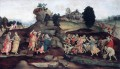 Moses brings forth Water out of the Rock Christian Filippino Lippi
