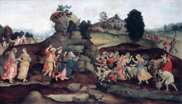 Moses brings forth Water out of the Rock Christian Filippino Lippi Oil Paintings