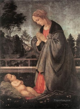 Christian Oil Painting - Adoration of the Child 1483 Christian Filippino Lippi