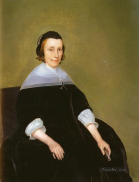 Christian Oil Painting - Borch Gerard ter Portrait Lady Christian Filippino Lippi
