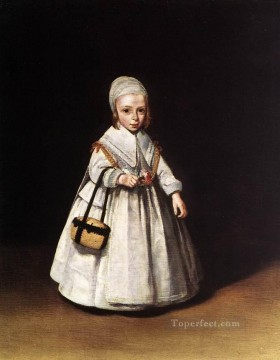 Christian Oil Painting - Helena van der Schalcke as a Child Christian Filippino Lippi