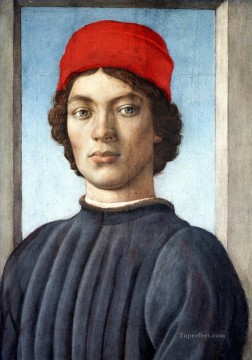 Christian Oil Painting - Portrait of a youth Christian Filippino Lippi