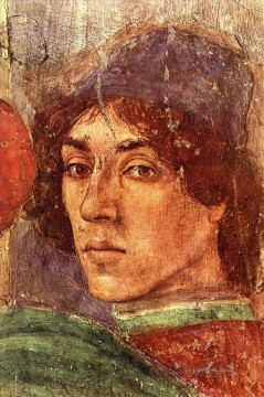 Christian Oil Painting - Self Portrait Christian Filippino Lippi