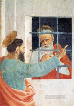 Christian Oil Painting - St Peter Visited In Jail By St Paul Christian Filippino Lippi