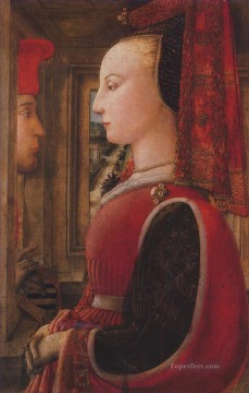 Christian Oil Painting - Two figures Christian Filippino Lippi