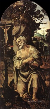 baptism of christ Painting - St Jerome 1490s Christian Filippino Lippi