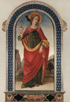 Christian Oil Painting - St Lucy Christian Filippino Lippi