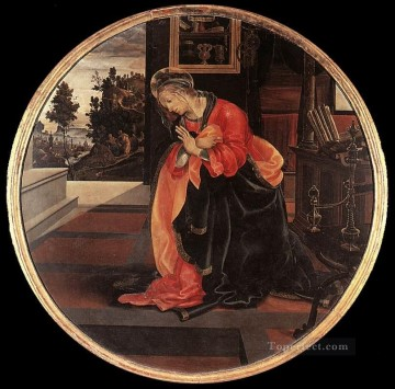 Virgin from the Annunciation 1483 Christian Filippino Lippi Oil Paintings