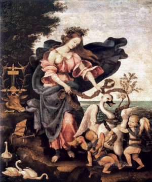 Christian Oil Painting - Allegory of Music or Erato 1500 Christian Filippino Lippi