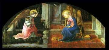 christ canvas - The Annunciation Christian Filippino Lippi