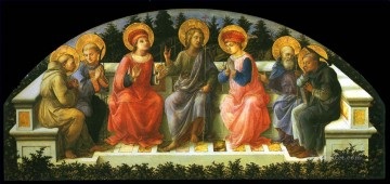 Christian Oil Painting - Seven Saints Christian Filippino Lippi