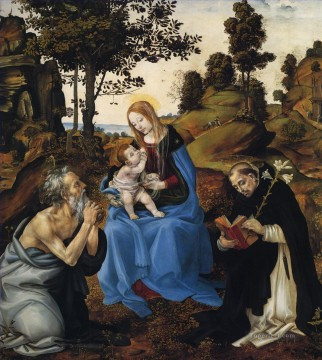Lippi Deco Art - The Virgin and child with St Jerome and Dominic Christian Filippino Lippi