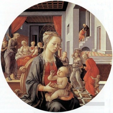 madonna Painting - Madonna and Child Christian Filippino Lippi