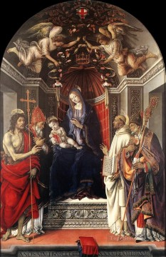 Signoria Altarpiece Pala degli Otto 1486 Christian Filippino Lippi Oil Paintings