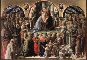 Coronation of the Virgin Renaissance Filippo Lippi Oil Paintings