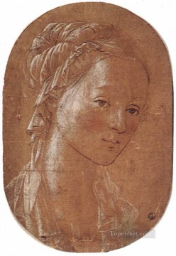 Head Of A Woman 1452 Renaissance Filippo Lippi Oil Paintings