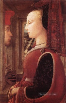 Portrait Of A Man And A Woman Renaissance Filippo Lippi Oil Paintings