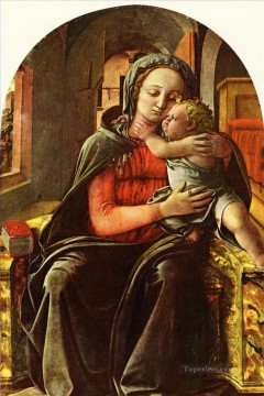 madonna Painting - Lippi Filippino Madonna and Child2 Renaissance Filippo Lippi