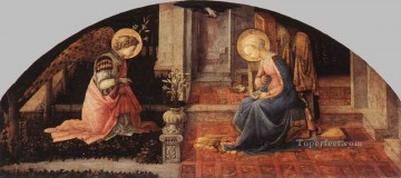 Annunciation 1445 Renaissance Filippo Lippi Oil Paintings