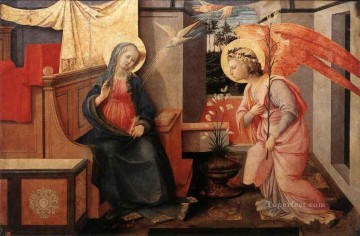 Annunciation 14455 Renaissance Filippo Lippi Oil Paintings