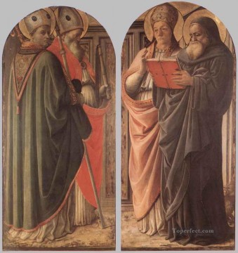 Fra Filippo Lippi Painting - The Doctors Of The Church Renaissance Filippo Lippi