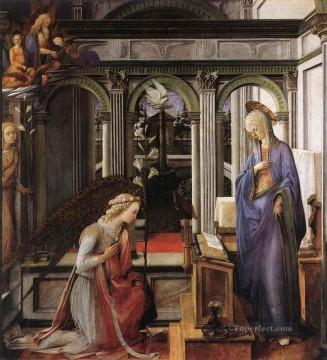 Annunciation Renaissance Filippo Lippi Oil Paintings