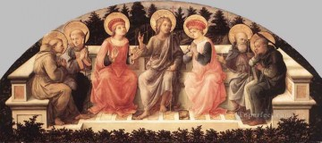 Seven Saints Renaissance Filippo Lippi Oil Paintings