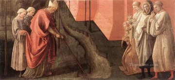 renaissance Painting - St Fredianus Diverts The River Serchio Renaissance Filippo Lippi