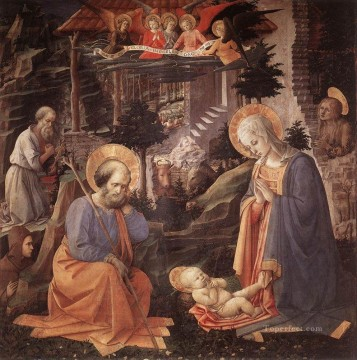 renaissance Painting - Adoration Of The Child Renaissance Filippo Lippi