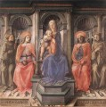 Madonna Enthroned With Saints Renaissance Filippo Lippi