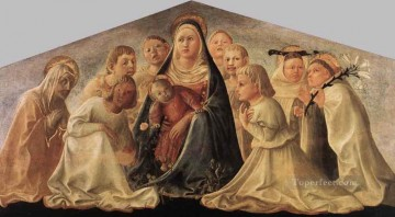 Madonna Of Humility Trivulzio Madonna Renaissance Filippo Lippi Oil Paintings