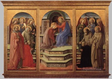 Coronation of the Virgin 2 Renaissance Filippo Lippi Oil Paintings