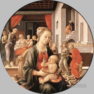 Fra Filippo Lippi Painting - Virgin With The Child And Scenes From The Life Of St Anne Renaissance Filippo Lippi