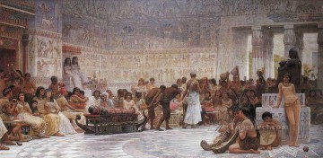An Egyptian Feast Edwin Long Oil Paintings