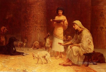 Preparing For The Festival Of Anubis Edwin Long Oil Paintings